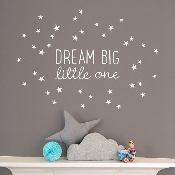 Dream Big Little One White