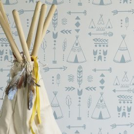teepees nursery wallpaper