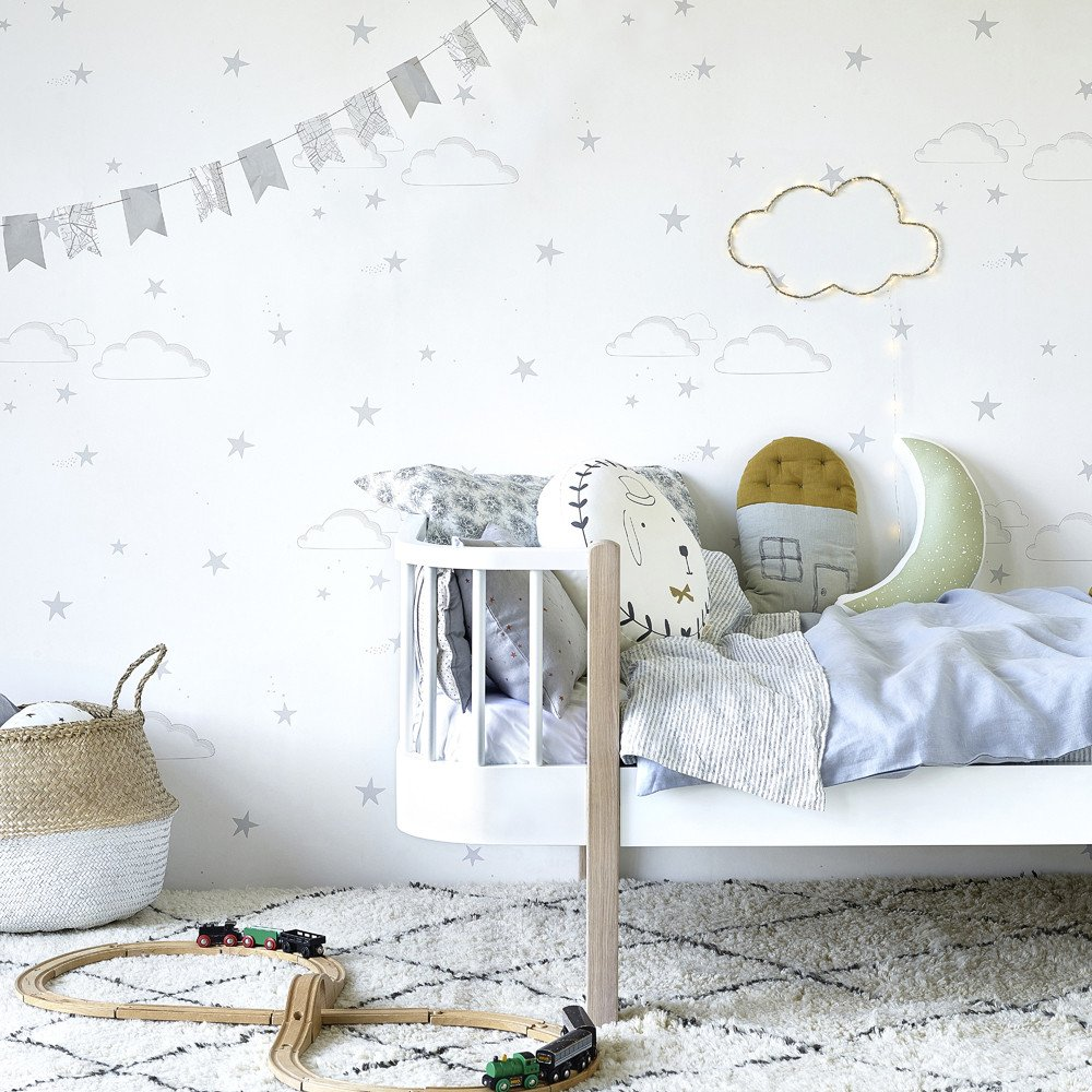 Starry Sky Wallpaper Silver White