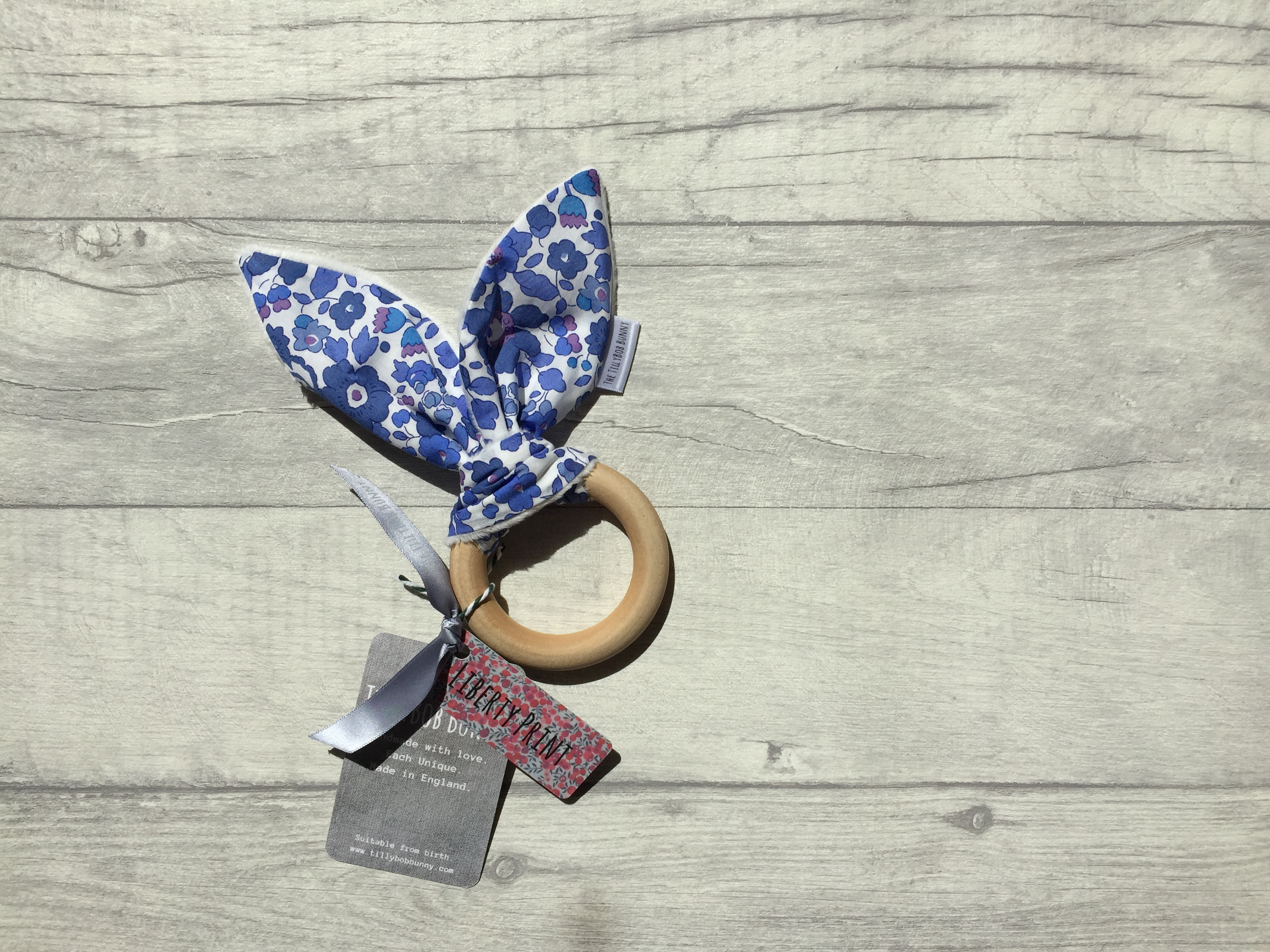 Liberty Baby Teething Ring