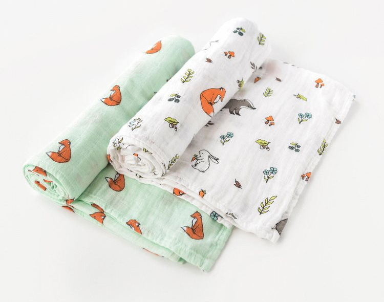 woodland nursery swaddles