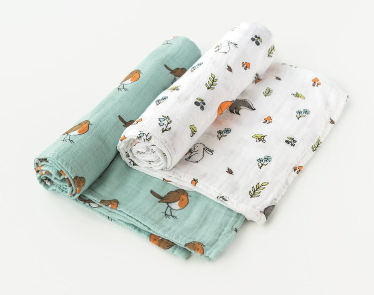 Woodland Swaddles Nursery